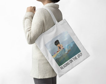 Bookish TOTE bag - Reading on the Go - Kids bag - Library bag - lunch bag