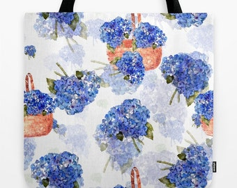 Hydrangea Nosegays Tote Bag
