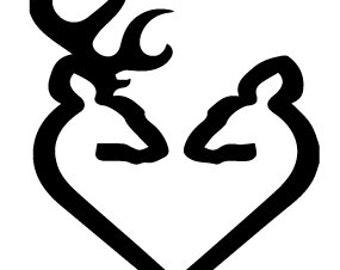 Buck and doe heart love