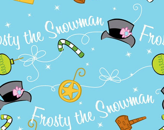 Frosty The Snowman Silly Snowman Holiday Christmas Fabric