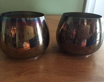 Oneida Silverplate Stemless Goblets