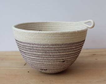 Cotton rope small planter bowl in AUBERGINE  // small planter bowl // rope bowl // rope vessel // urban jungle // jewellery dish // key bowl