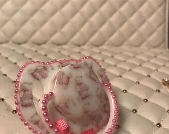Hot pink Lottie magnetic reborn doll dummy pacifier