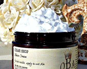 WHISKEY SUGAR - Shaving Cream - with Aloe & Lanolin - 4 Ounce