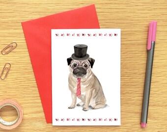 Pug Stationary Cards, Dog Stationary Set, Dog Notecard Sets, Folded Note Cards, Dog Note Cards With Envelopes, Dog Stationery Set for Girls