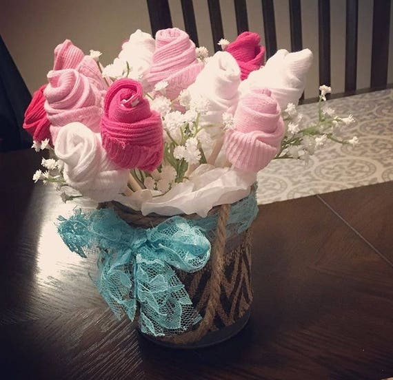 Welcome baby gift baby sock bouquet its a boy its negle Gallery