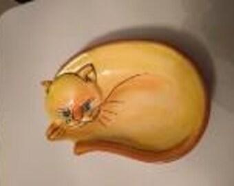 CAT Hand Painted Ceramic