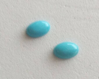 Arizona Sleeping Beauty Turquoise Oval  6x4 mm  SET Of 2  0.72cts