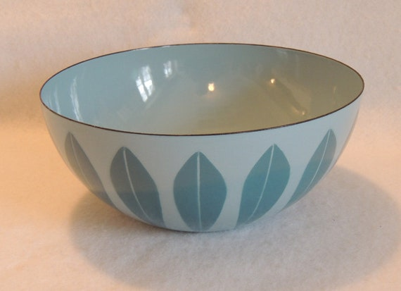 Vintage Catherineholm Enamel 9.5 In Lotus Bowl RETE PRYTZ KITTELSEN Mid Century Norway