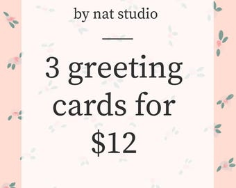 Greeting Cards Pack of 3