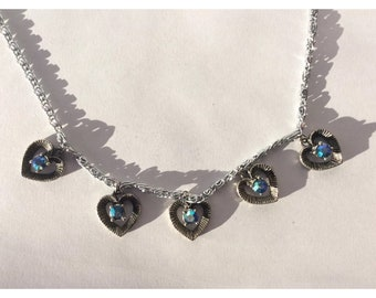 Retro 1940's Vintage MADE IN ENGLAND Heart Necklace