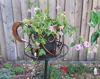 Yard Art Tea Cup Plant holder