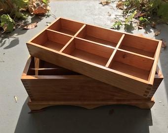 Handmade wooden cherry keepsake box for storage/jewelry