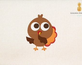 Turkey embroidery design - Thanksgiving embroidery design - sweet embroidery design