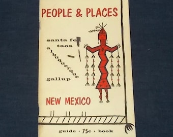Vintage 1960s Booklet-People & Places-Santa Fe-Albuquerque-Taos-Gallup New Mexico-FREE SHIPPING!