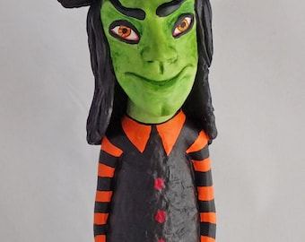 OOAK Cone Witch Doll Figure, Halloween, Wicca and Fall Decoration by Lori Platt The Pixie Knoll