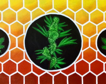 Honey Comb Cannabis PAINTING