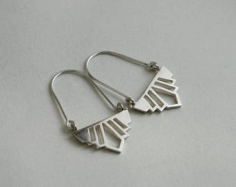 Delux swing earrings sterling silver art deco