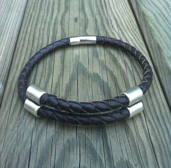 BRAIDED LEATHER BRACELET for him