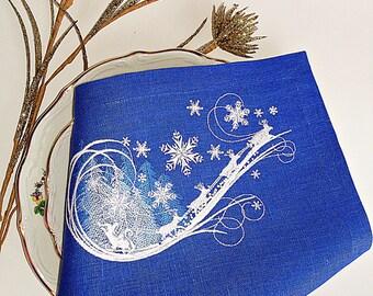 Embroidered Christmas Snowflake Cloth Napkins,christmas napkins,christmas cloth napkins,snowflake napkins,snowflake cloth napkins,gift
