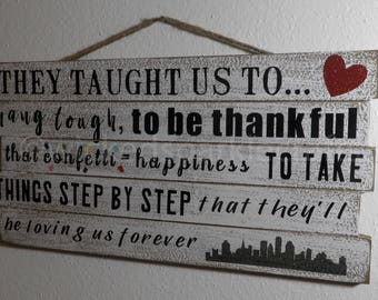 Life Lessons From NKOTB - Hanging Wooden Sign