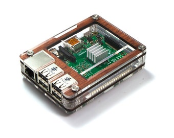 Zebra Wood (with power supply) ~ for Raspberry Pi 3, Pi 2 and Pi B+ (Fan upgrade optional)