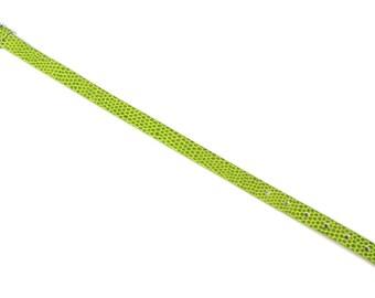 Green faux snake skin bracelet holder
