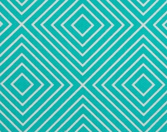 Patty Young for Michael Miller Diamonds in Teal - 1/2 yard
