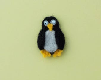Felt fridge magnet penguin
