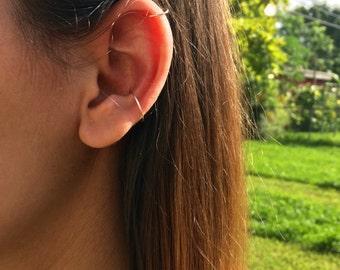 set of two ear cuff, fake ear cuff, helix pierce, conch piercing, no piercing needed, clip on ear cuff, conch earring, cartilage cuff, boho