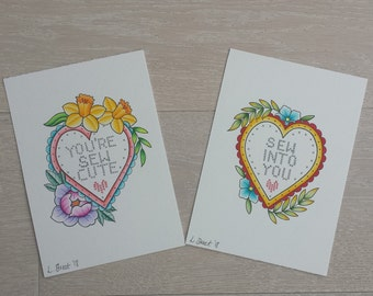 Sew Into You/You're Sew Cute art prints