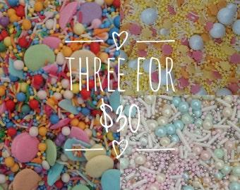 3 for 30 bucks | Sprinkle Medley