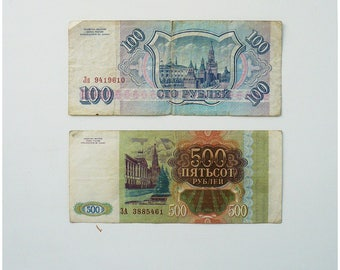 Set of 2 Russian banknotes