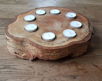 Wooden Design Tea Candle Holders
