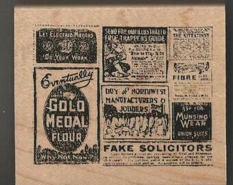 Vintage Advertising Rubber Stamp