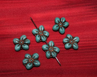 Flowers lovely 14x13 mm / matte / old patina (6pcs)