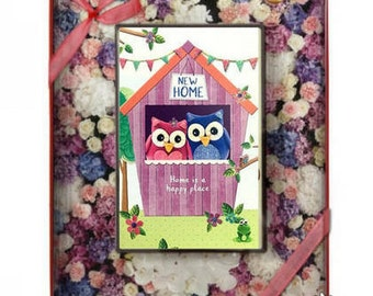Chocolate New Home Greeting Card Moved House enjoy your new home Personalised housewarming gift moving out card first home card new place