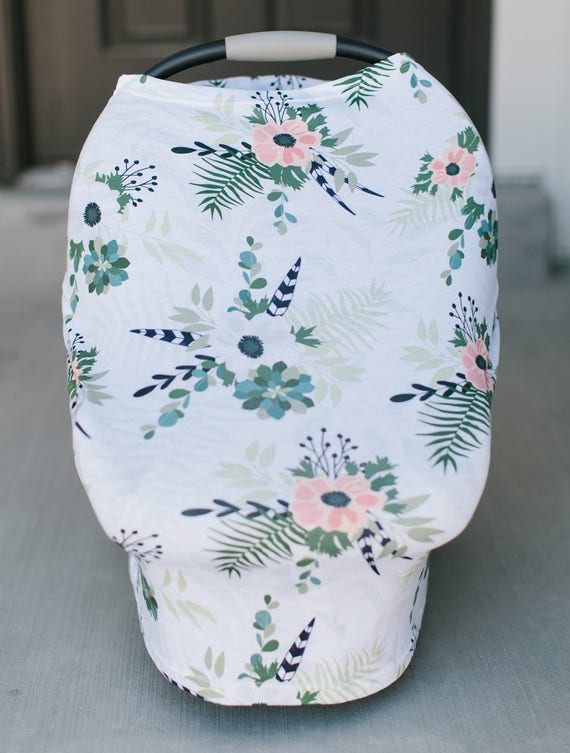 3 In 1 Stretchy Baby Nursing Cover Car Seat Canopy And