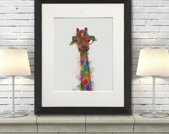 Giraffe room decor - Giraffe 3 Print - Giraffe print art Giraffe art for kids Safari print Animal print Uk seller Kids giraffe art Uk shop