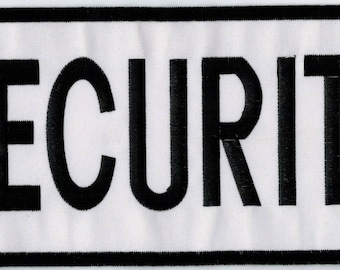 Great Security badge pattern to sew 27 X 12 cm Patch Applique