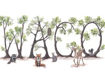 Waco Woodland Print