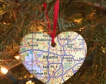 Atlanta Map Ornament