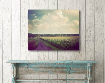 Canvas wall art, country photograph, photo on canvas, large wall art, home decor, landscape photography, country decor