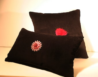 Pair Velvet Pillows