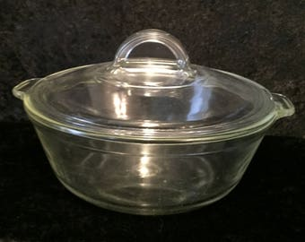 Pyrex Clear Casserole Dish with Lid 023-623B l 21 C