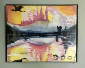 Acrylic Painting: Fantasy Sunset