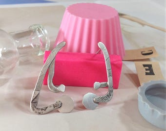 asymmetrical earrings | cool earrings | contemporary jewelry | handmade earrings