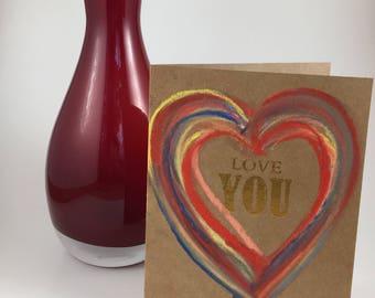 Love you card - heart