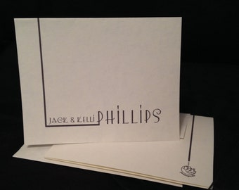 """Personalized Notecards """"LemonChicken"""" beautifully packaged for gift giving."""