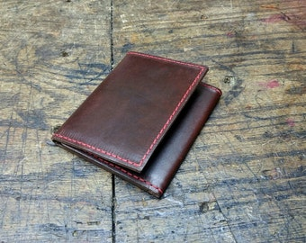 Cobblersstitch trifold wallet Horween chromexcel leather.